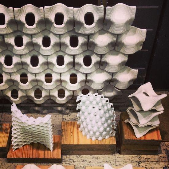 Ceramic Digital Fabrication Tiles      Ronald Rael