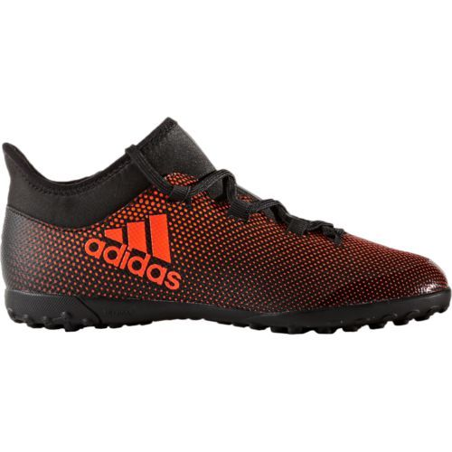 Adidas Boys' X Tango 17.3 Soccer Turf Shoes (Black/Orange, Size 6) - Youth Soccer Shoes at Academy Sports