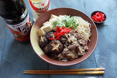 Sukiyaki Donburi - yes, I have found a relatively easy Asian food site ...