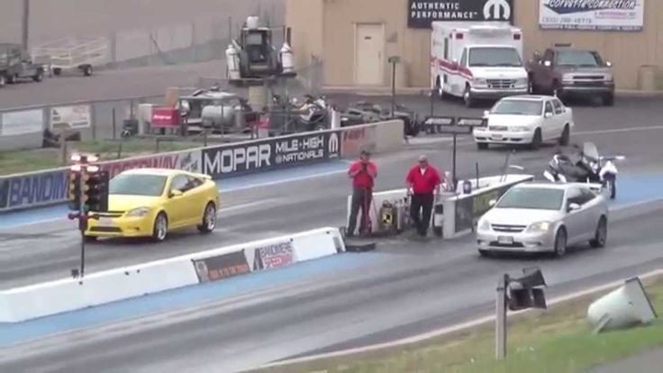 Драг Рейсинг Двух Шевроле Кобальт СС Drag Race Chevrolet Cobalt SS vs Co...