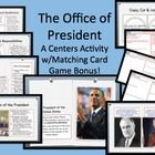 $9.40 Introduce students to the roles and responsibilities, qualifications for, and reasons for being a president in this Centers or Response Group Activ...