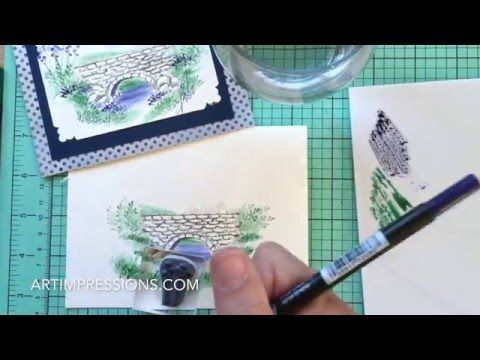 Art Impressions Blog: NEW VIDEO! Watercolor Wednesday Series – Stone Bridge