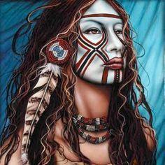 pintura o fotografia indios americanos antiguos - Buscar con Google