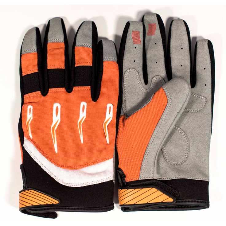 Race-Driven ATV MX Off Road Silicone Fingertip Riding Gloves - Orange