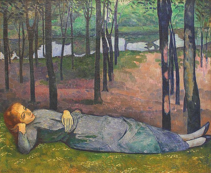 BERNARD Emile,1888 - Madeleine au Bois d'Amour - 0 -   GAUGUIN à Emile BERNARD en 1888 : « Vous êtes extraordinairement doué et vous seriez arrivé quand même mais à une autre époque c'est-à-dire il y a 10 ans, vous n'auriez pas trouvé un seul pour vous admirer et vous regarder. Donc tant mieux pour vous. » (Arles, novembre 1888, Correspondance)