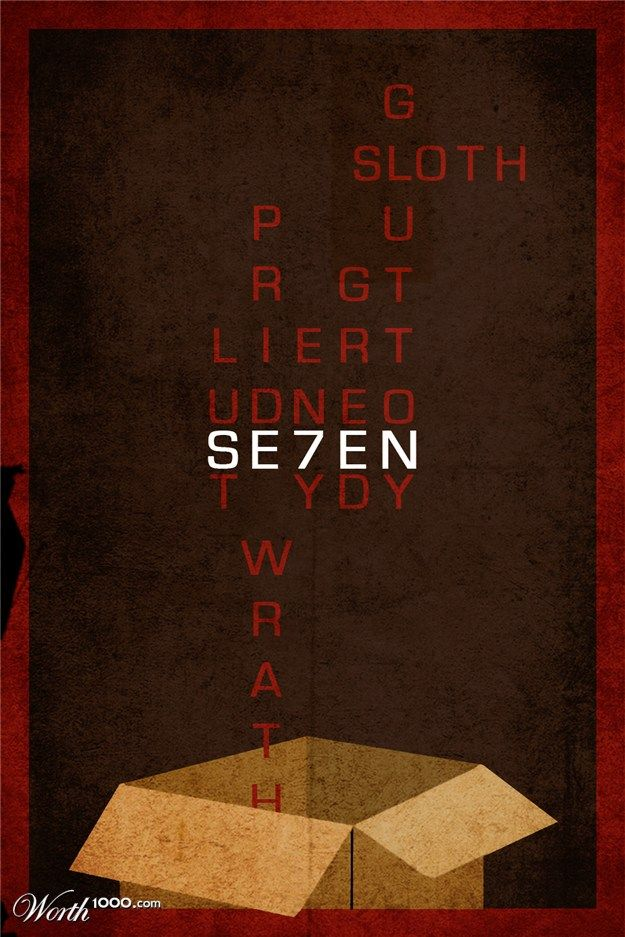 Minimalist Se7en Movie Poster