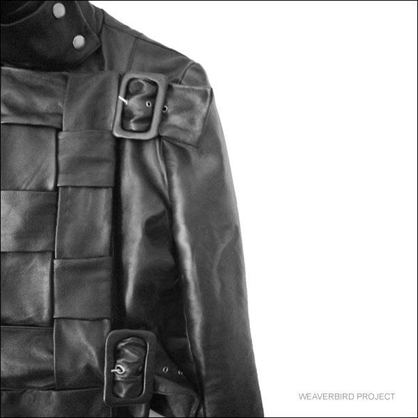 Leather jacket-detail from the collection HANDCRAFTING-PACIFIC REFLECTIONS