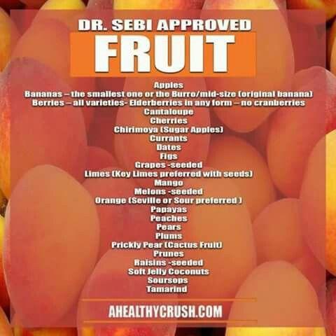 Dr. Sebi fruits