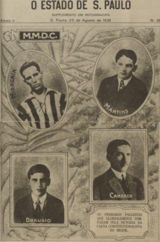 1932 São Paulo - Capa do Jornal O Estado de São Paulo  de  25/08/1932