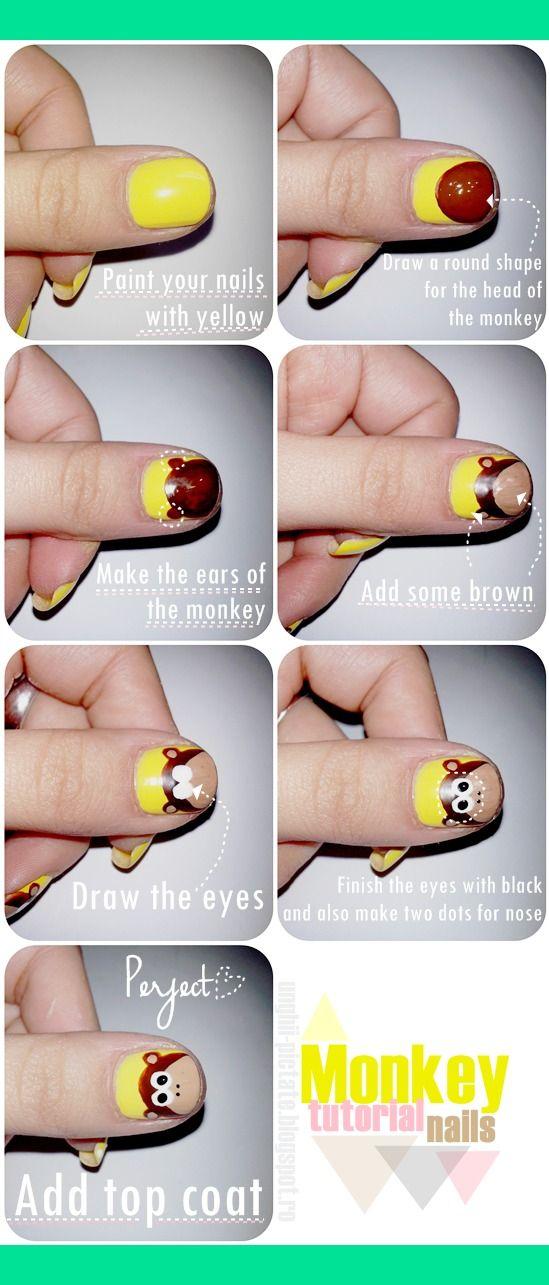 Monkey nails tutorial | Monica L.'s (laviniamonica) Photo | Beautylish