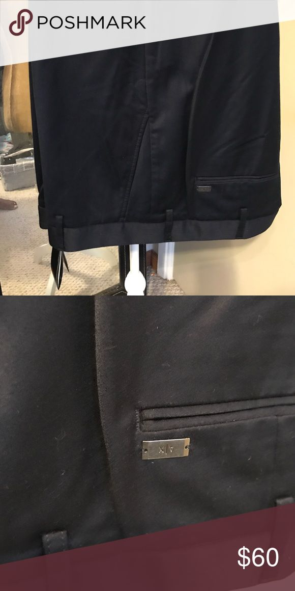 Armani Exchange Navy blue trousers size 40 new Beautiful pair of gaberdine men's navy blue trousers. Brand new with tags in a size 40 A/X Armani Exchange Pants Dress