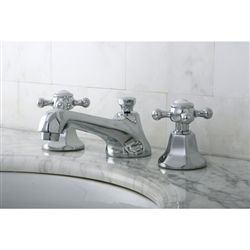 kingston brass metropolitan line with cross handles, vintage widespread bath faucet.  looks cheaper to buy from amazon or faucet direct than from kingston brass.