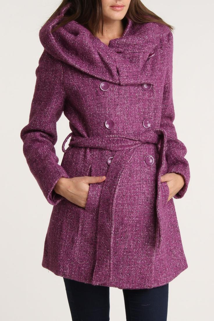 Vertigo Rica Coat In PURPLE, Love this , hope its not made