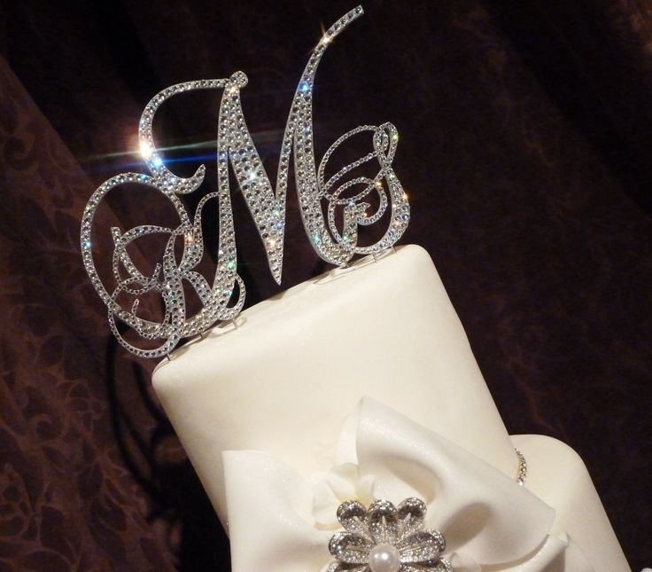 17 Best ideas about Monogram Wedding Cake Toppers on Pinterest