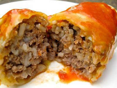 Galumpki (hamburger & rice stuffed cabbage rolls) - been looking for this recipe forever!!! Grandma B used to make them! Yum!!