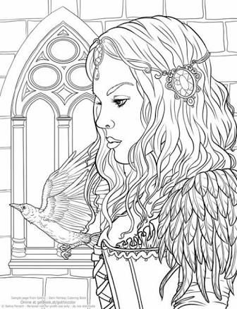 Gothic - Dark Fantasy Coloring Book (Fantasy Art Coloring by Selina) (Volume 6): Selina Fenech