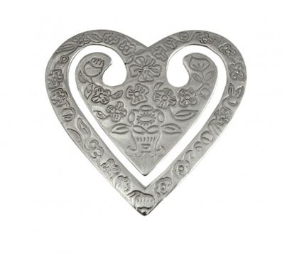 Bookmark - HEART OF FLOWERS - Sterling Silver