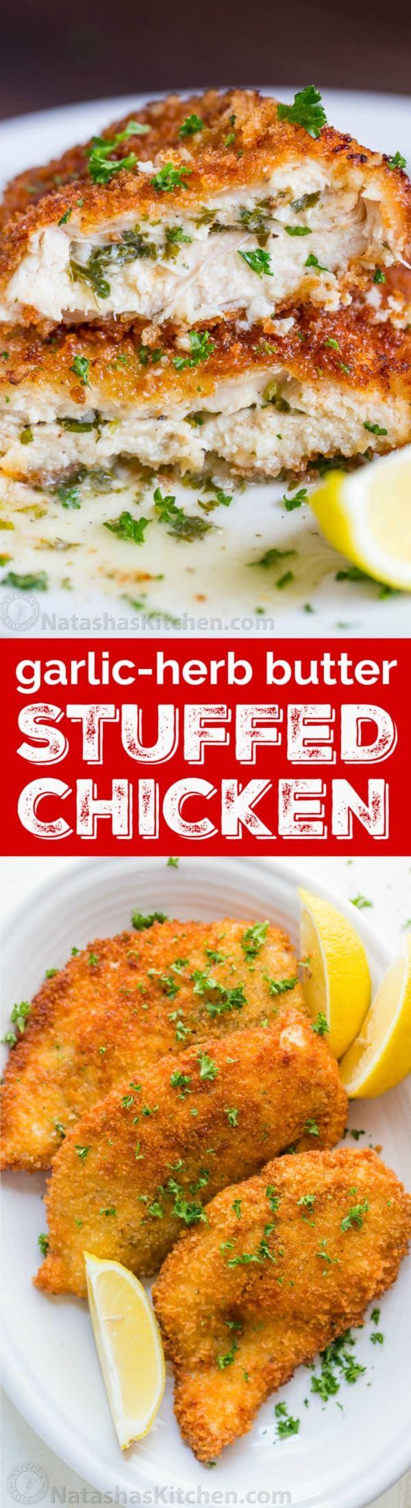 Garlic-Herb Butter Stuffed Chicken