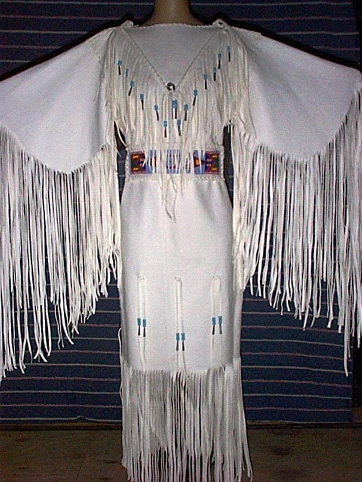 white native american beading dress - Google Search