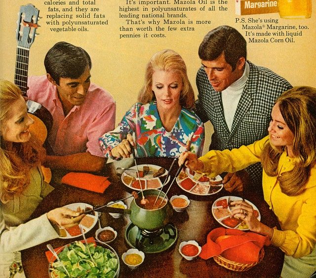 Do you fondue ad for mazola corn oil 1969 vintage for Menu du soir entre amis