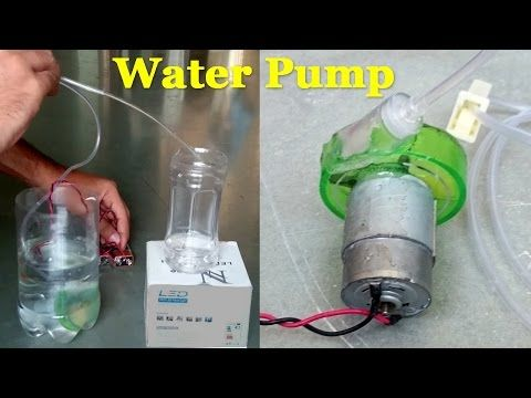 How to Make an Electric Water Pump using bottle - Easy Way - YouTube