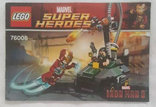 76008 Lego Marvel Iron Man Vs The Mandarin Ultimate Showdown