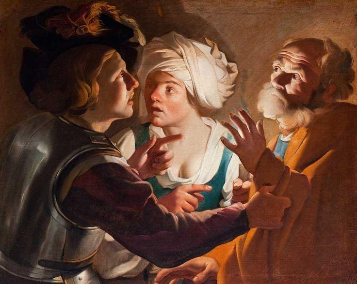 Dirk van Baburen (naśladowca), Zaparcie się Świętego Piotra