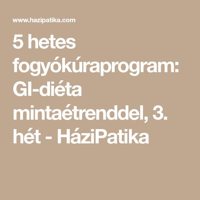 5 hetes fogyókúraprogram: GI-diéta mintaétrenddel, 3. hét - HáziPatika