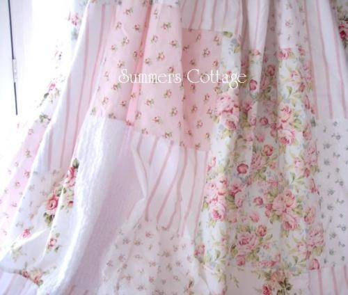 Details About AQUA BLUE TURQUOISE TEAL COTTAGE RUFFLES SHOWER CURTAIN SHABBY COTTAGE CHIC NEW