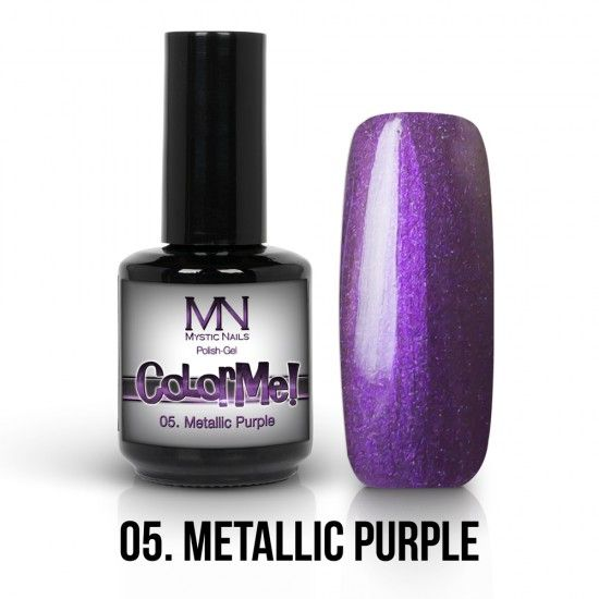 ColorMe! Metallic no.05. - Metallic Purple 12ml gel polish lakkzselé gél lakk nail art mystic nails