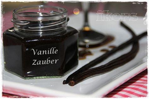 Vanillezauber Vanillepaste 250 g Zucker 120 g Wasser 10-12 (ca. 35 g) Vanilleschoten in Stücken 8 Min./50°/St.1 ...