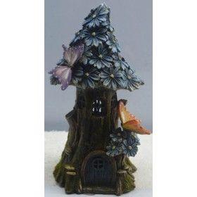 Solar Fairy Garden - Blue Flower House