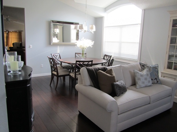 simple clean look dark wood floors and light blue walls our home pinterest light blue. Black Bedroom Furniture Sets. Home Design Ideas