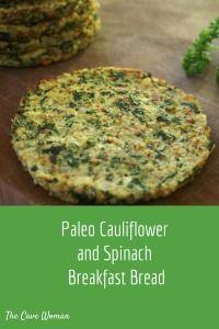 Cauliflower Spinach Baked Breakfast Bread