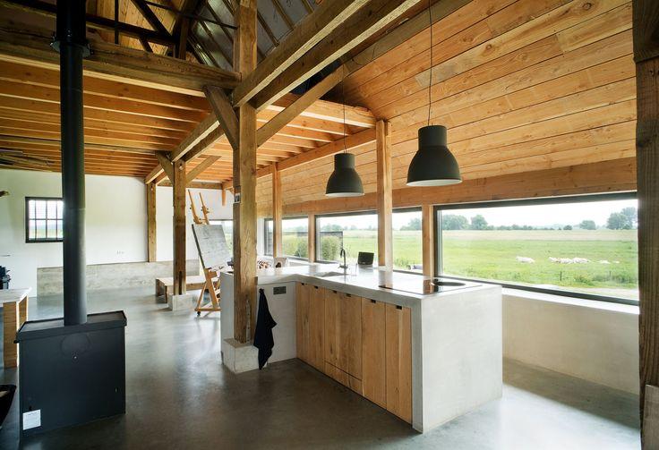 raampartijen, open ruimte, materiaal gebruik, open verdieping