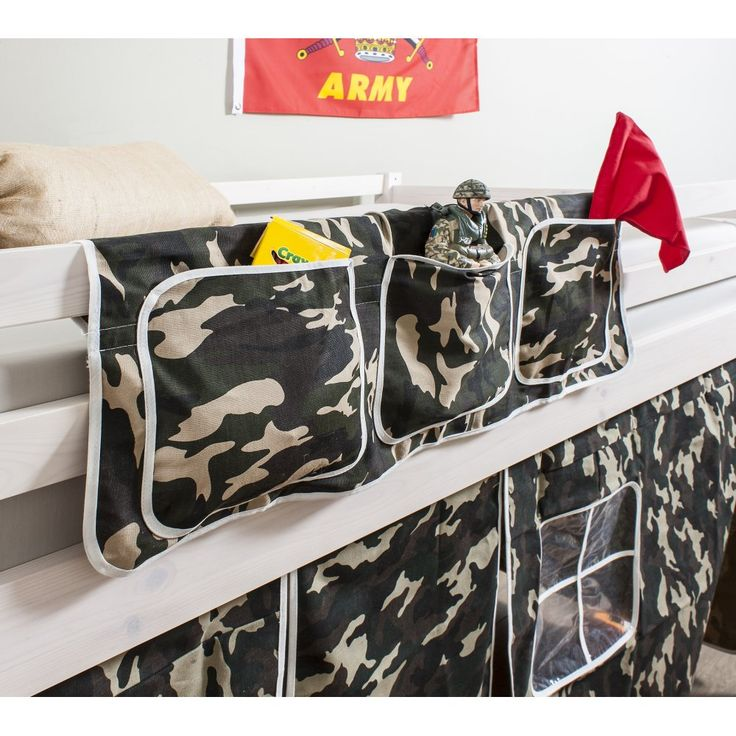 Bed Tidy in ARMY Design with Pockets - Bed Organiser from Noa and Nani UK | £14.99 | #BedPocket #BedroomAccessories #HomeDecor