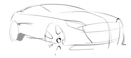 tutorial on how to sketch a car