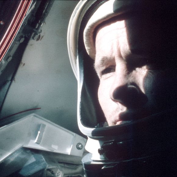 Ed White (1930-1967), the first American to walk in space, photographed by Jim McDivitt during the Gemini IV mission [NASA/JSC/Arizona State University].