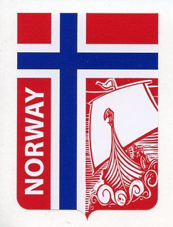 Norway Flag Decal with Viking Ship [4973] - $2.00 : Zen Cart!, The ...