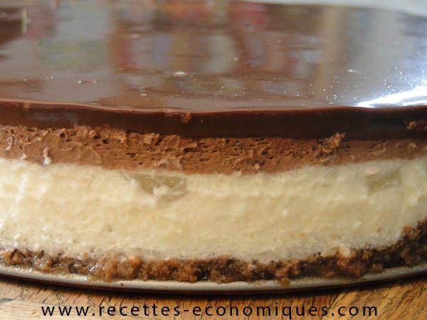 Bavarois poire chocolat au Thermomix
