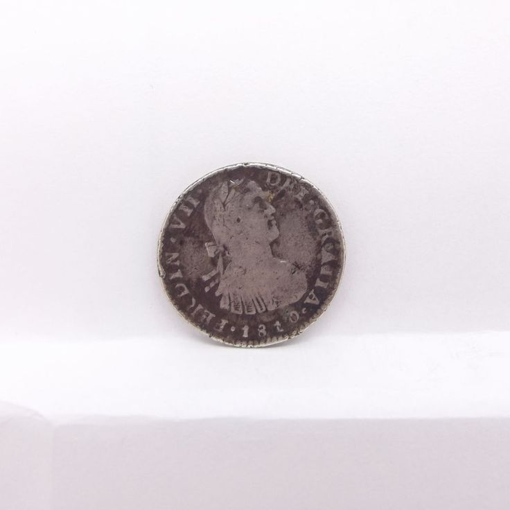 1810 Mexico Spanish Silver One (1) Reale Fredinand VII