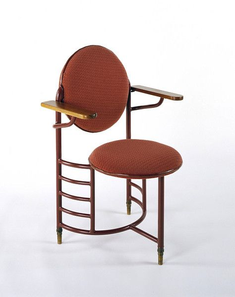 Armchair |   Frank Lloyd Wright, 1937-1939 .  These chairs were in the Johnson Wax building and they were not stable.  Redesigned after numerous spill.