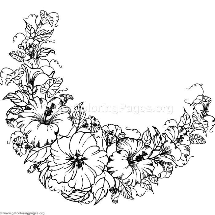 Free Instant Download Moon Of Flowers Coloring Pages Https Www