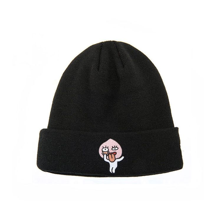 NEW ERA x Kakao Friends Collaboration KNIT CUFF BEANIE KAKAO APEACH BLK