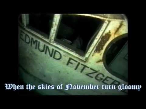 The Wreck Of The Edmund Fitzgerald~Gorden Lightfoot with Lyrics  //  Very well done lyrics..