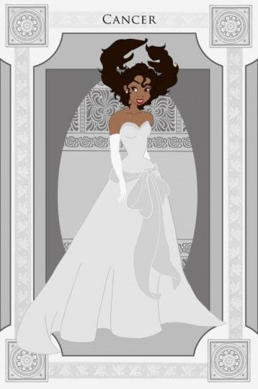 SIGNS OF THE ZODIAC, REPRESENTED BY DISNEY PRINCESSES Cancer/Tiana