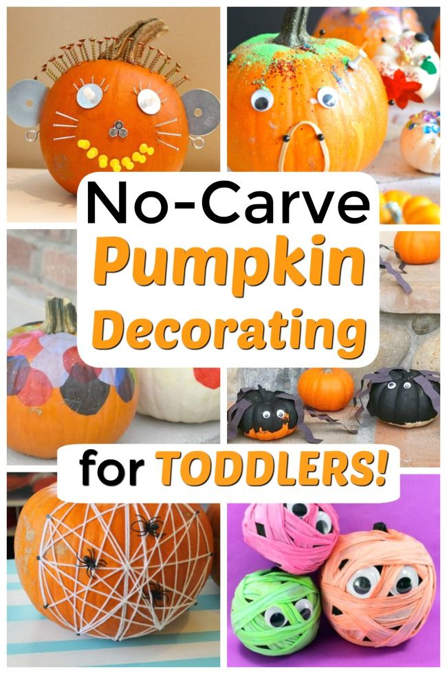 Perfect Pumpkin Carving Ideas For All Kids How Wee Learn No Carve Pumpkin Decorating Pumpkin Decorating Pumpkin Decorating Party