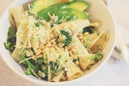 Broccoli With Garlic, Pine Nuts, And Asiago Cheese Recipe — Dishmaps