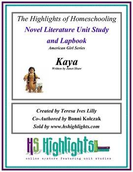 American Girls: Kaya Novel Literature Unit Study and Lap Book