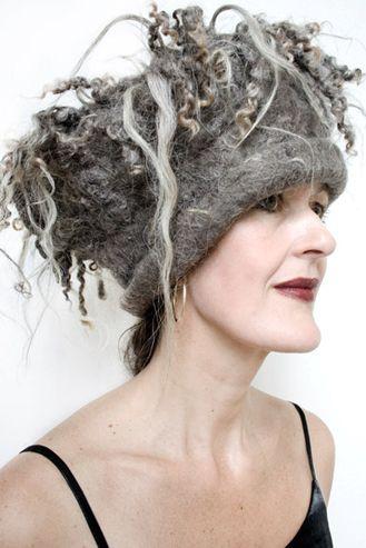 Fantastic felt hat by HelmyBakx   crazy!  maybe make it alittle less intense into a headband size?